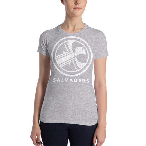 Salvagers Distressed Logo Women's Slim Fit T