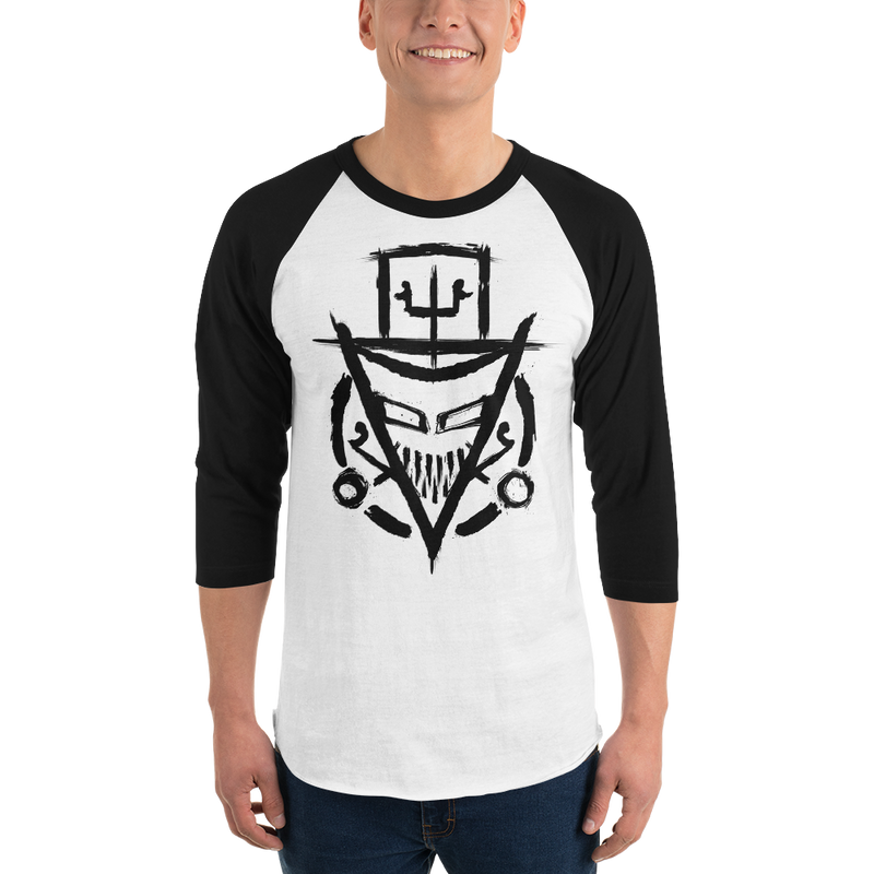The Rejected Glyph 3/4 Sleeve Raglan T