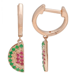 WATERMELON CHARM HUGGY EARRINGS