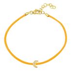 CORD BRACELET -DIAMOND MOON -ORANGE