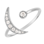 CRESENT MOON DIAMOND RING