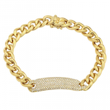 CUBAN DIAMOND PAVE ID BRACELET