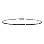 MICRO VENICE TENNIS BRACELET-BLACK X WHITE DIAMOND