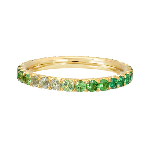 TIE DYE ETERNITY BAND -EMERALD