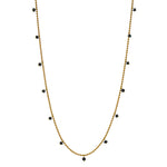 RAINDROPS NECKLACE -BLACK DIAMOND