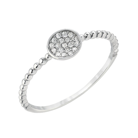 BARELY THERE CZ STACK BANDS -CIRCLE