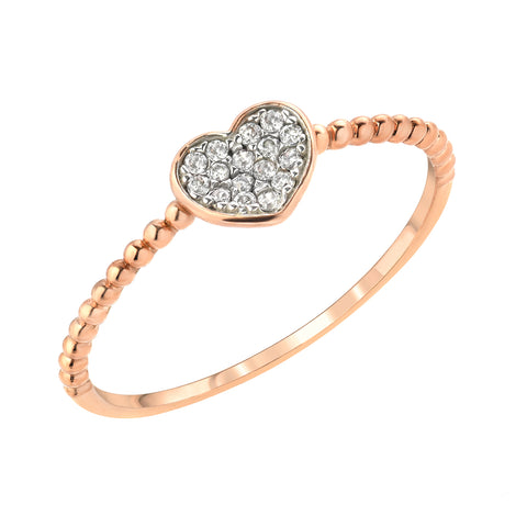 BARELY THERE CZ STACK BANDS -HEART