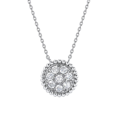 MILLIGRAIN CIRCLE NECKLACE