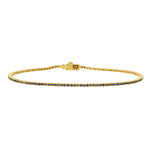 Micro Venice Tennis Bracelet -Black Diamond
