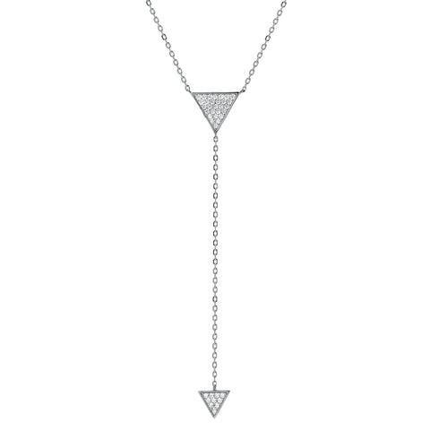 PAVE TRIANGLES Y NECKLACE