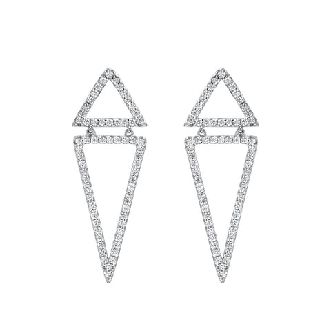 Kite Silhouette Statement Earrings