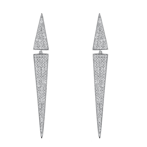 KITE PAVE STATEMENT EARRINGS