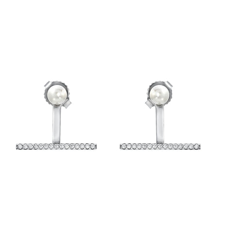 PEARL STUD AND BAR EARRING ENHANCER