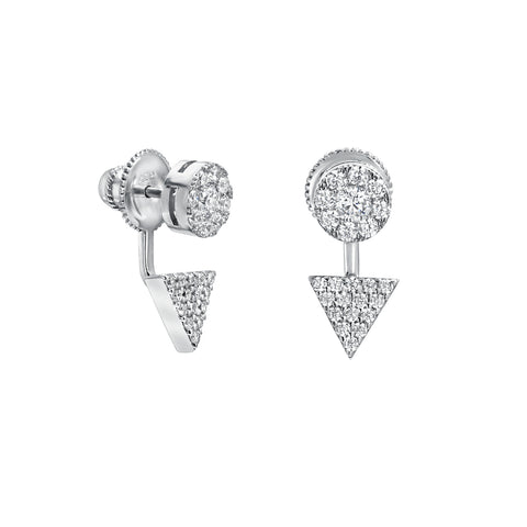 CIRCLE AND TRIANGLE PAVE EARRING ENHANCERS