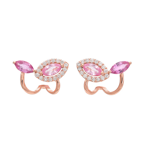 Marquise Pink Ivy Earrings