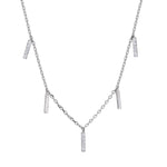PAVE BAR SHAKER NECKLACE