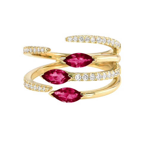 IVY RING -RUBY