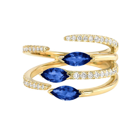 Ivy Ring -Blue Sapphire
