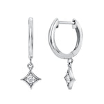 SPADES DIAMOND HOOP EARRINGS