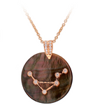 MOTHER OF PEARL ZODIAC MEDALLION - LIBRA
