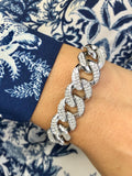 15mm SOLID DIAMOND CUBAN BRACELET