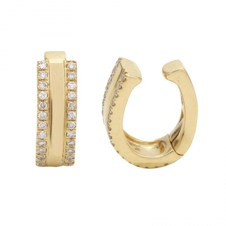 TWO ROW DIAMOND HINGED EAR CUFF