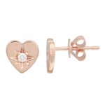 HEART THROB DIAMOND STUD EARRINGS