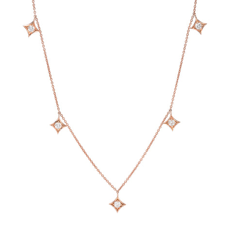 SPADES FIVE DIAMOND SHAKER NECKLACE