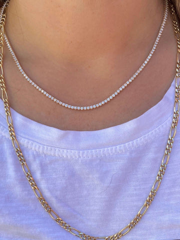 Diamond Collar Tennis Necklace
