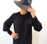 PUFFY SLEEVE BLOUSE - FAB5Clothing