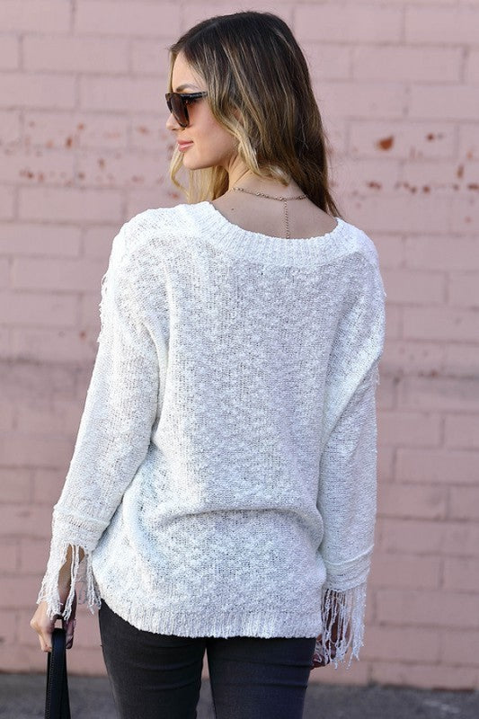 Sahara Fringed Sweater