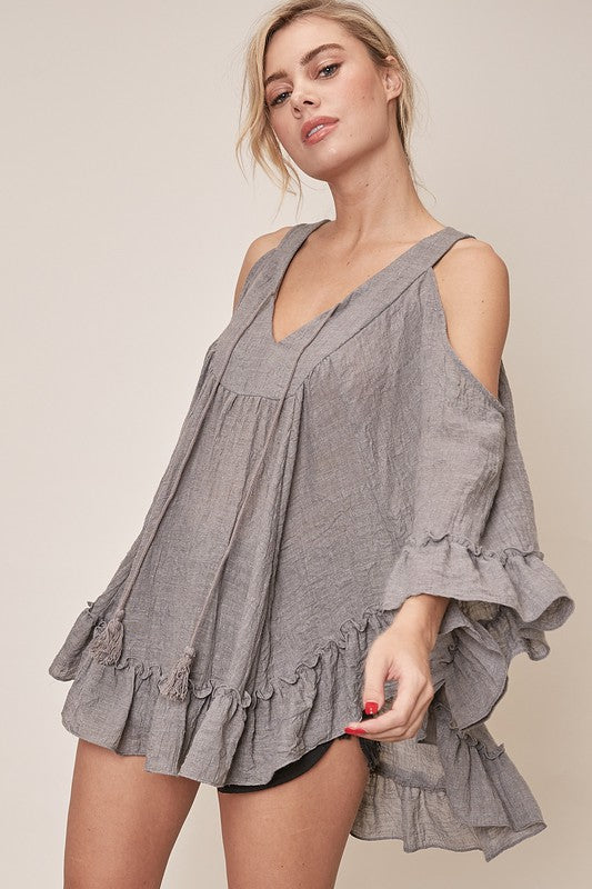 Pretty Poncho Oversized Top