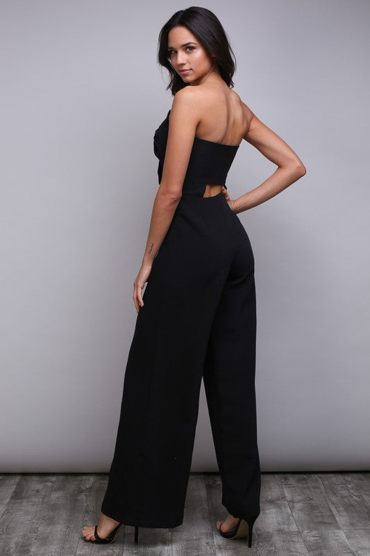 BOW BANDEAU JUMPSUIT - FAB5Clothing