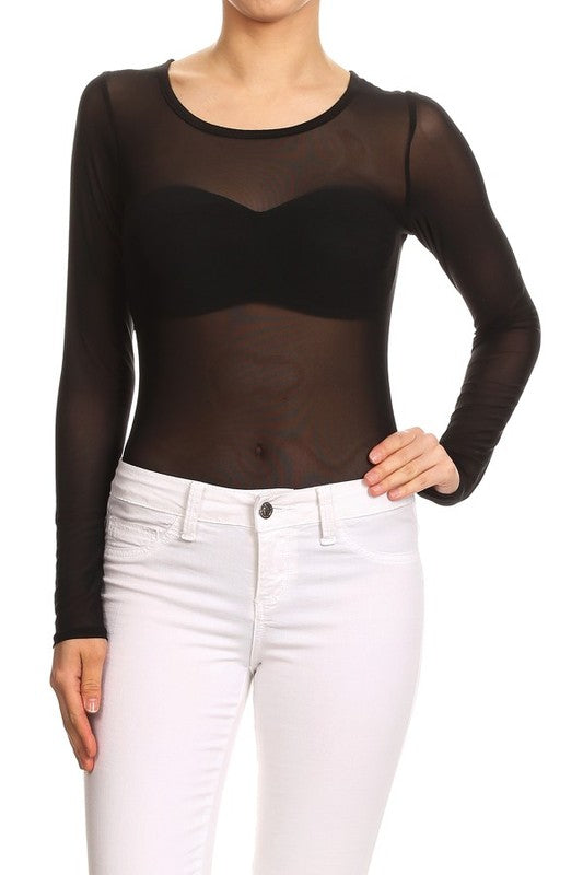 MESH BODYSUIT - FAB5Clothing