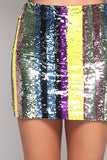 MULTI SEQUINS MINI SKIRT - FAB5Clothing