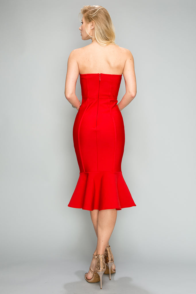 SWEETHEART BANDAGE DRESS - FAB5Clothing