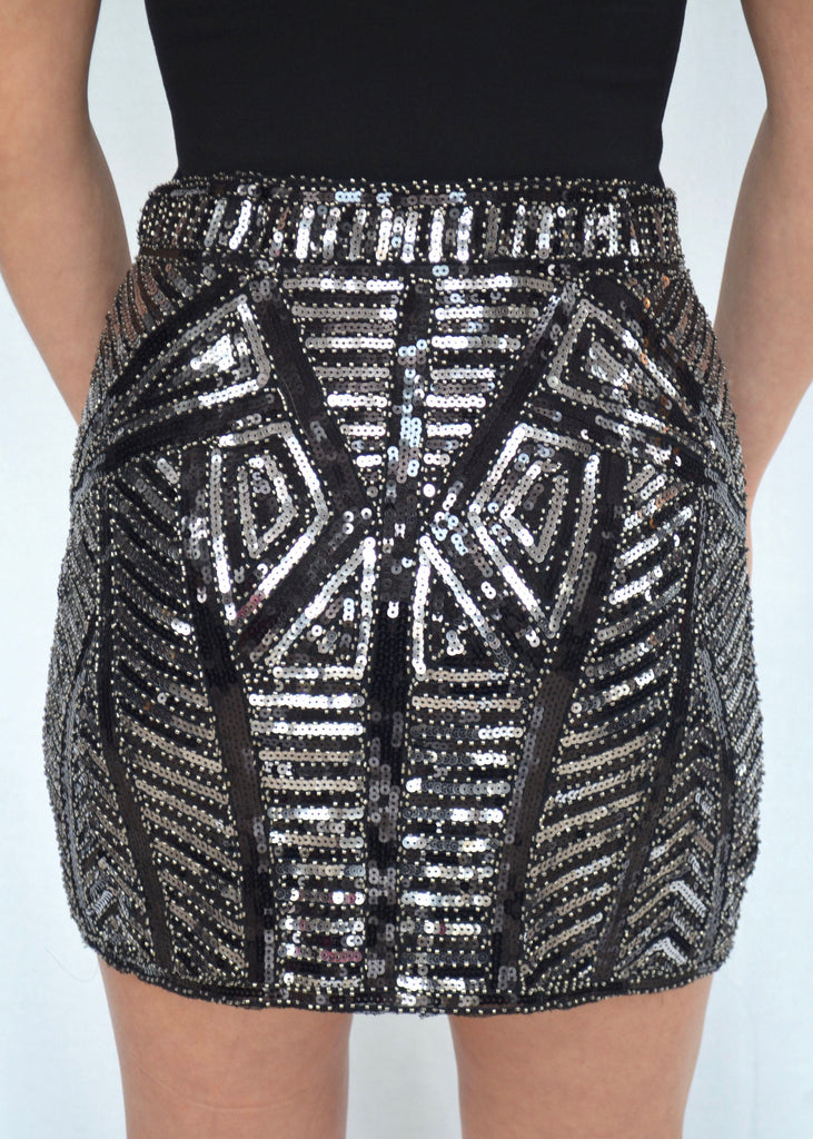 SEQUINS MINI SKIRT - FAB5Clothing