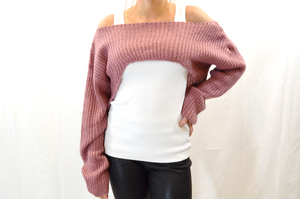 EXTREMELY CROPPED HIGH LOW SWEATER - FAB5Clothing