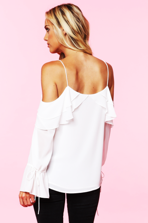 COLD SHOULDER BLOUSE - FAB5Clothing