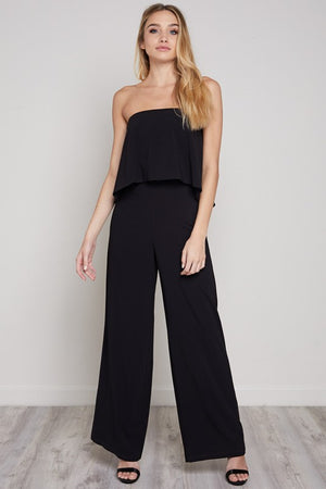 STRAPLESS POP OVER JUMPSUIT - FAB5Clothing