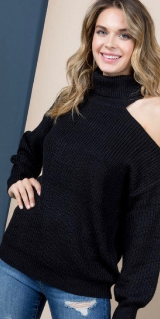 Noir Turtleneck Sweater