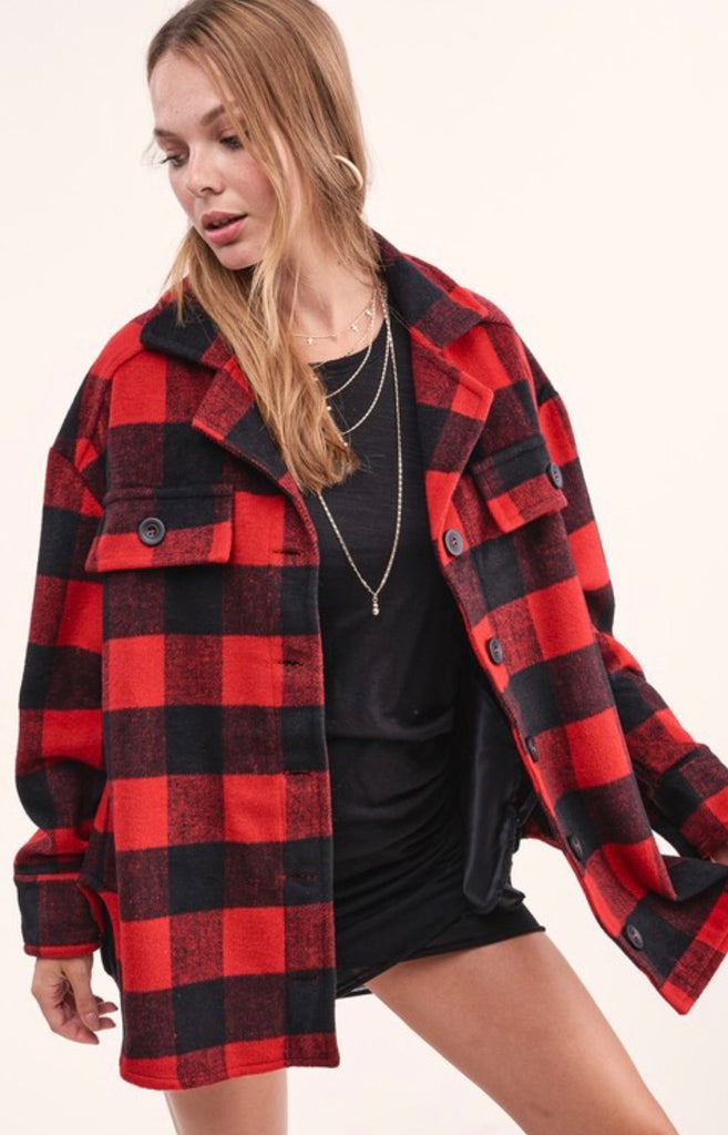 Lumber Jacky Red Shirt Jacket