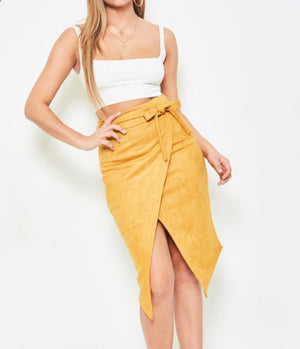 FAUX SUEDE SKIRT - FAB5Clothing