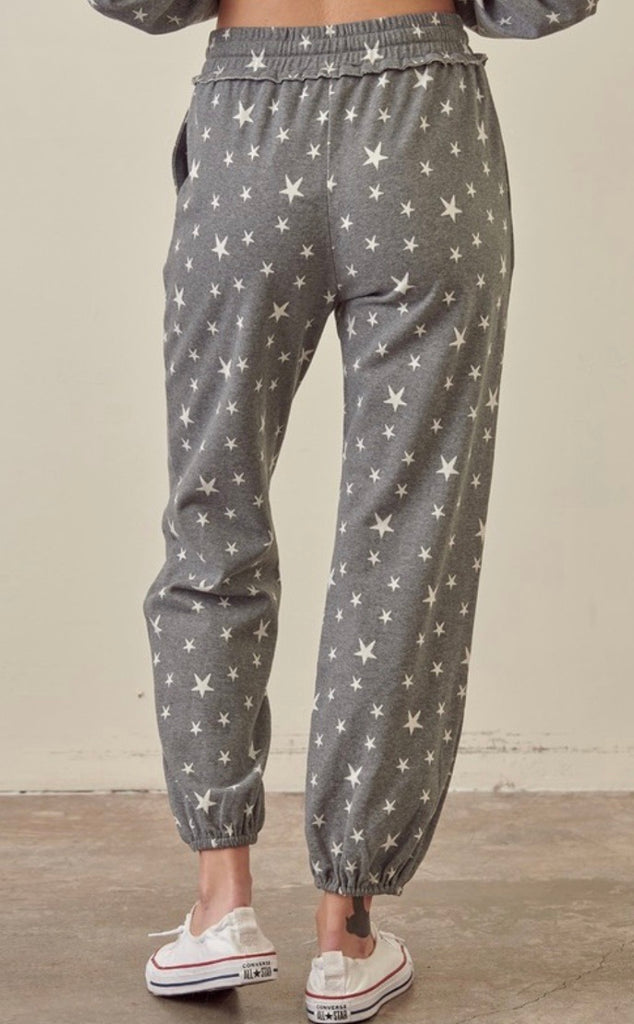Galaxy Star Print Sweatpants
