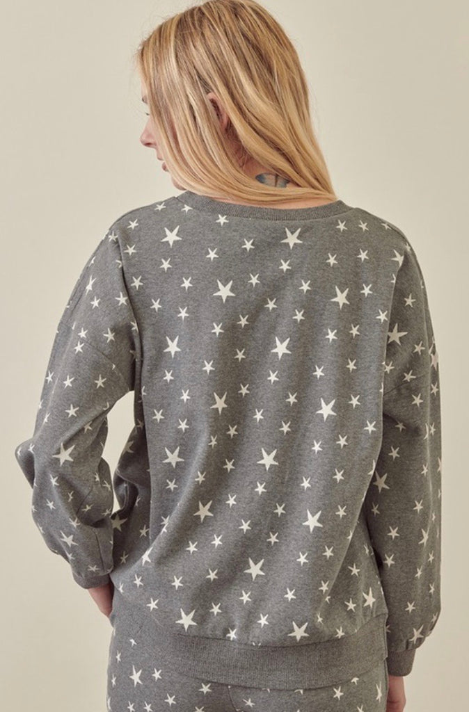 Galaxy Star Print Sweatshirt