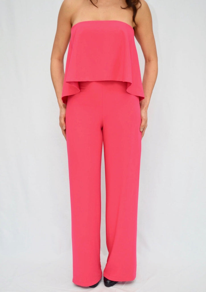 STRAPLESS POP OVER JUMPSUIT
