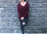 V-NECK TUNIC SWEATER - FAB5Clothing
