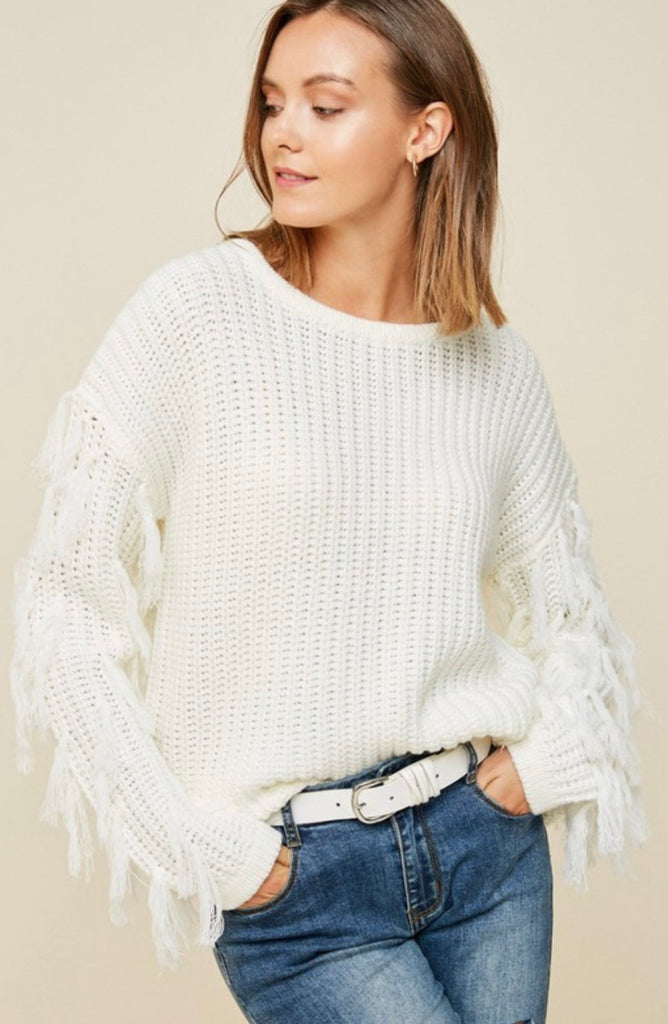 Knoxville Tasseled Sweater