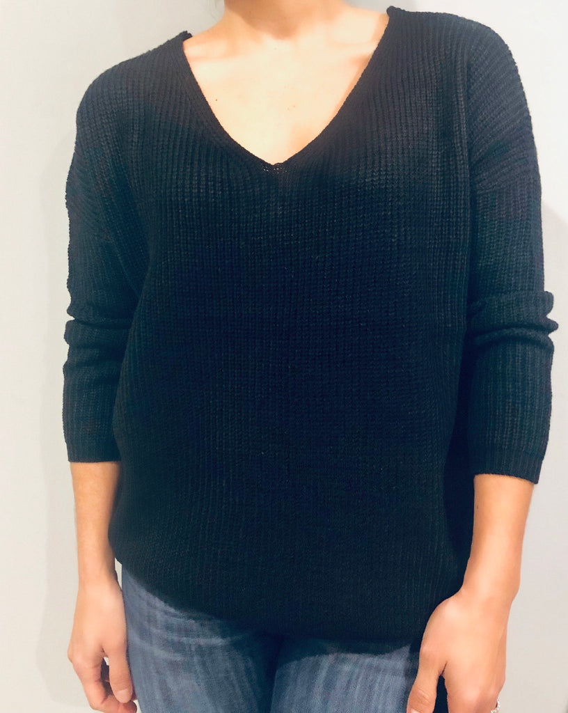LACE UP BACK SWEATER - FAB5Clothing