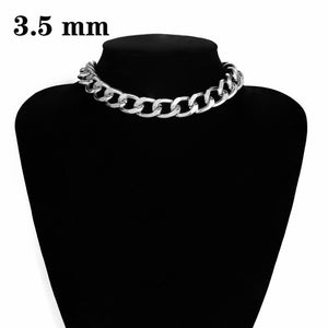 Punk Miami Cuban Choker Necklace